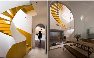 Ngôi nhà ấn tượng với nhiều vòm cong uốn lượn theo kiến trúc Santorini lãng mạn