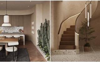 """Penthouse thông tầng với phong cách Wabi Sabi kết hợp Contemporary view sông Hồng cực """"chill"""""""