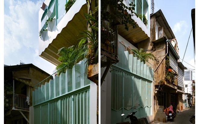 Sâu trong hẻm nhỏ, nhà Sài Gòn vẫn 'bừng sáng' trên báo ngoại